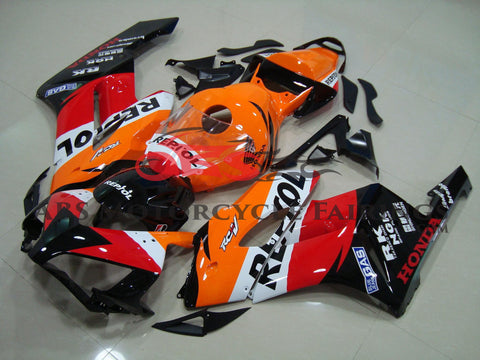 Honda CBR1000RR (2004-2005) Repsol Fairing Kit with Orange Seat Cowl
