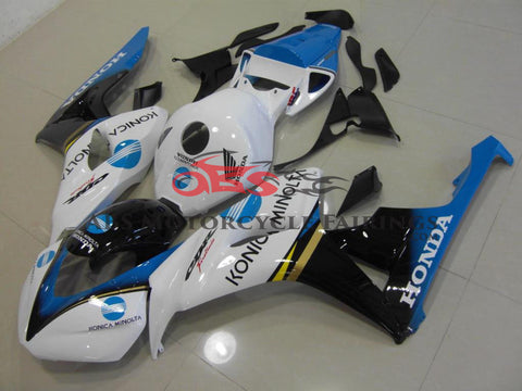 Honda CBR1000RR (2006-2007) White, Black & Blue Konica Minolta Race Fairings