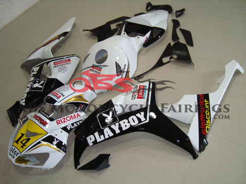 Honda CBR1000RR (2006-2007) White, Black & Gold Playboy Fairings