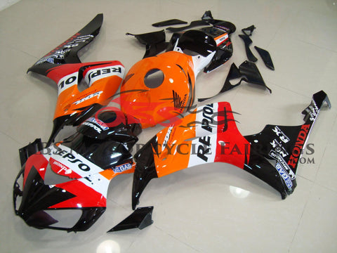 HONDA CBR1000RR (2006-2007) REPSOL Fairings with Black Windscreen