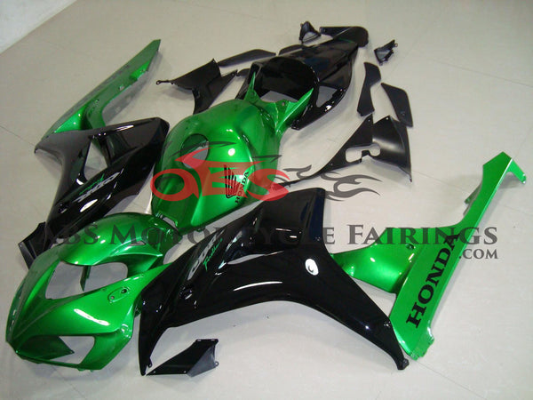 Honda CBR1000RR (2006-2007) Green & Black Fairings