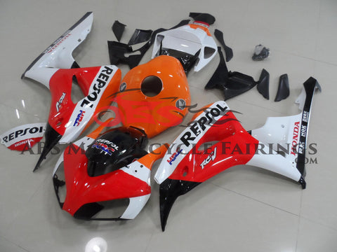 Red, White and Orange REPSOL Fairing Kit for a 2006 & 2007 Honda CBR1000RR motorcycle