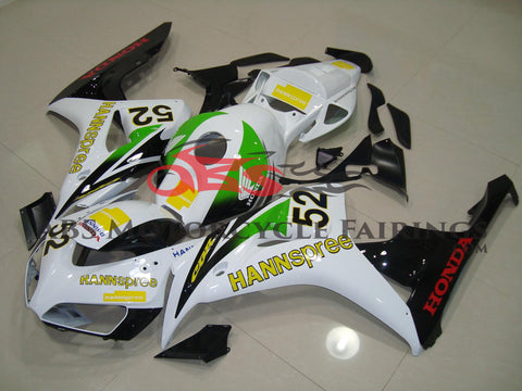 Honda CBR1000RR (2006-2007) White, Green & Yellow HANNspree Fairings