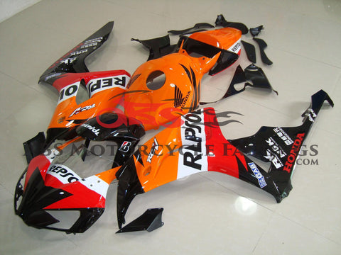 Honda CBR1000RR (2006-2007) Orange, Black, Red & White REPSOL Fairings