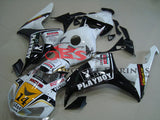 White, Black and Gold Playboy Fairing Kit for a 2006 & 2007 Honda CBR1000RR motorcycle