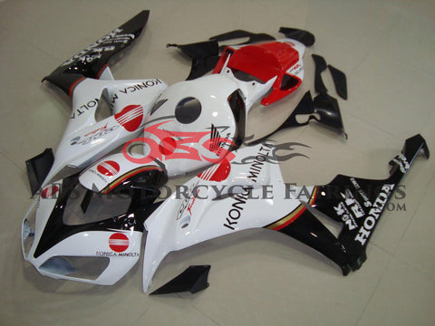 Honda CBR1000RR (2006-2007) White, Black & Red Konica Minolta Fairings