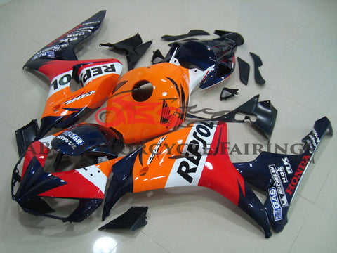 Honda CBR1000RR (2006-2007) Orange, Dark Blue, Red & White REPSOL Fairings