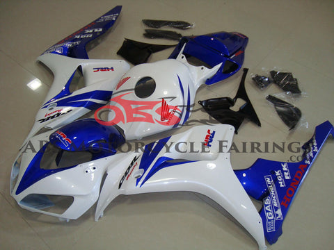 Honda CBR1000RR (2006-2007) White & Blue HRC Fairings