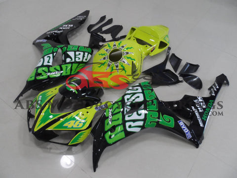 Honda CBR1000RR (2006-2007) Green & Black ROSSI Fairings