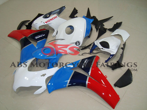 White Blue & Red 2008-2009 Honda CBR1000RR