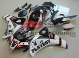 Black, White and Red PLAYBOY Fairing Kit for a 2008, 2009, 2010 & 2011 Honda CBR1000RR motorcycle