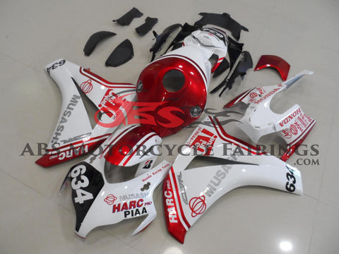 Honda CBR1000RR (2008-2011) White & Candy Apple Red MUSASHI HARC Pro Fairings