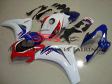 White, Blue and Red HRC Fairing Kit for a 2008, 2009, 2010 & 2011 Honda CBR1000RR motorcycle
