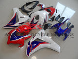 Red, White and Blue HRC Fairing Kit for a 2008, 2009, 2010 & 2011 Honda CBR1000RR motorcycle