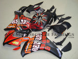 Matte Black and Orange ROSSI Fairing Kit for a 2008, 2009, 2010 & 2011 Honda CBR1000RR motorcycle