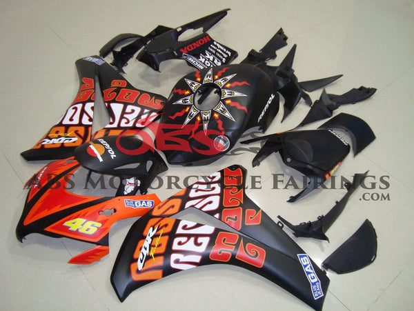 Honda CBR1000RR (2008-2011) Matte Black & Orange ROSSI Fairings