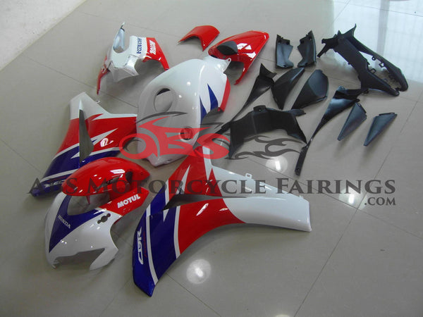 Honda CBR1000RR (2008-2011) White, Red & Blue Motul Fairings
