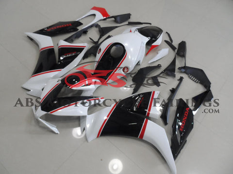 Black White & Red Stripe 2012-2013 Honda CBR1000RR