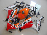 Orange, White and Red Repsol Fairing Kit for a 2012, 2013, 2014, 2015 & 2016 Honda CBR1000RR motorcycle