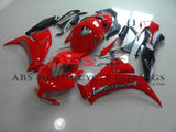 Red and Silver Fairing Kit for a 2012, 2013, 2014, 2015 & 2016 Honda CBR1000RR motorcycle