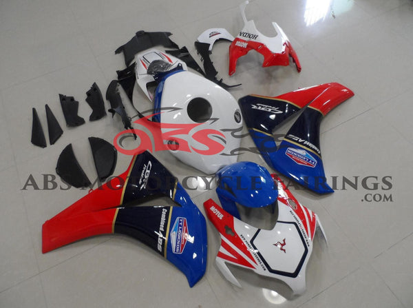 Honda CBR1000RR (2012-2016) White, Blue & Red TT Legends Fairings