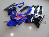 Blue & Black Fairing Kit for a 2004, 2005, 2006, 2007 Honda CBR600F4i mot