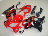 Red and Black Fairing Kit for a 2001, 2002, 2003 Honda CBR600F4i motorcycle