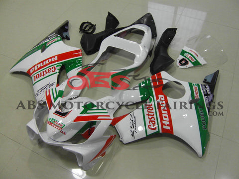 CBR600F4i (2001-2003) White, Green & Red Castrol Fairings