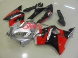 Black, Red & Silver Fairing Kit for a 2004, 2005, 2006, 2007 Honda CBR600F4i motorcycle