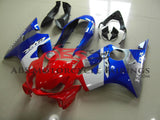 Red, White, Blue and Silver Fairing Kit for a 2004, 2005, 2006, 2007 Honda CBR600F4i motorcycle