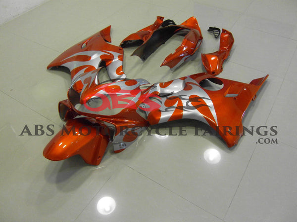 Honda CBR600F4i (2004-2007) Orange & Silver Tribal Fairings