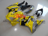 Yellow, Black & Silver Fairing Kit for a 2004, 2005, 2006, 2007 Honda CBR600F4i motorcycle