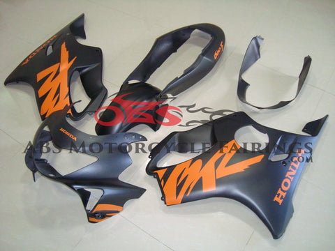 All Matte Black & Orange Decals 1999-2000 Honda CBR600FS