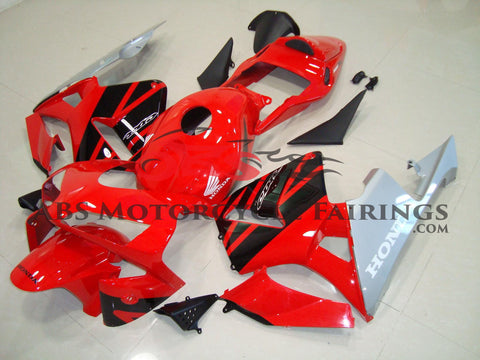 Honda CBR600RR (2003-2004) Red, Black and Silver Fairings