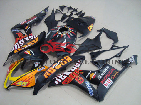 Honda CBR600RR (2007-2008) Matte Black Rossi Race Fairings