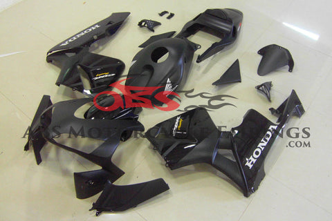 Honda CBR600RR (2003-2004) Matte Black with Gloss Black Fairings