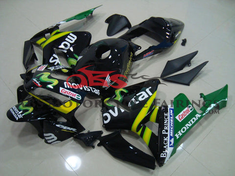 Honda CBR600RR (2003-2004) Black and Green MOVISTAR Fairings