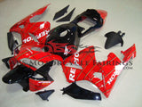Red and Black Spider Man Repsol Fairing Kit for a 2003, 2004 Honda CBR600RR motorcycle