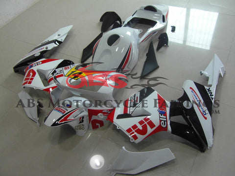 Honda CBR600RR (2003-2004) White, Black & Red Givi Race Fairings
