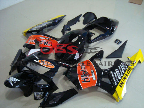Honda CBR600RR (2003-2004) Black & Orange HM Plant Race Fairings