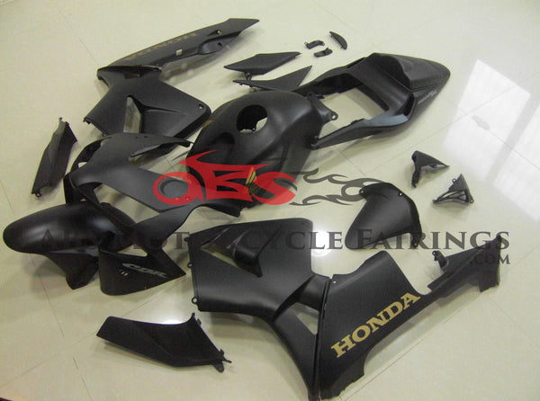 Honda CBR600RR (2003-2004)  Matte Black & Gold Fairings