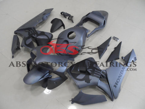 Honda CBR600RR (2003-2004) Matte Grey & Black Skull Fairings