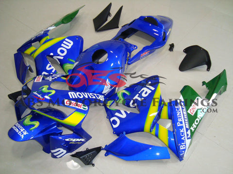 Honda CBR600RR (2003-2004) Blue, Yellow & Green MOVISTAR Fairings