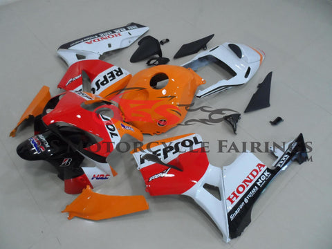 Honda CBR600RR (2003-2004) Orange, Red & White Repsol Race Fairings