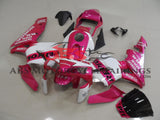 Pink and White REPSOL Fairing Kit for a 2003, 2004 Honda CBR600RR motorcycle