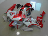 White and Red Pramac Racing Fairing Kit for a 2003, 2004 Honda CBR600RR motorcycle