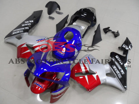 Honda CBR600RR (2003-2004) Blue, Red, Silver & Black Fairings