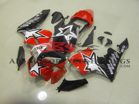 Honda CBR600RR (2003-2004) Red, Black & White Star Fairings