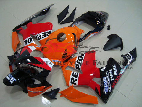Honda CBR600RR (2003-2004) Orange, Red & Black Repsol fairings with a Black Tail Section