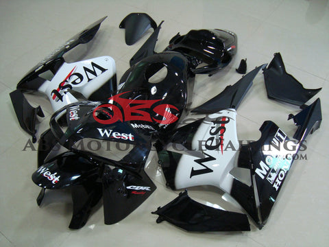 Honda CBR600RR (2003-2004) Black & White West Race Fairings